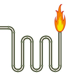 burning pipe vector image
