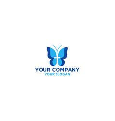 Butterfly church logo design vector