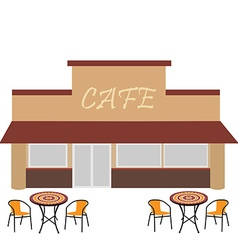Cafe with summer terrace vector