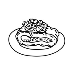 cake icon doddle hand drawn or black outline icon vector image
