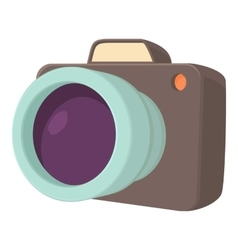 Camera icon cartoon style vector image