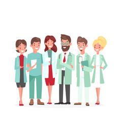 cartoon woman man medical characters profile vector image