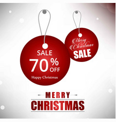 Christmas sale tag 70 off vector