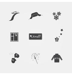 Chrystmas icons vector image