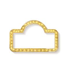 Cinema golden shape frame vector