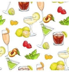 color pattern unforgettables cocktails vector image