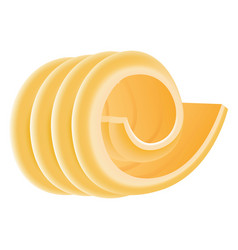 curl butter icon realistic style vector image