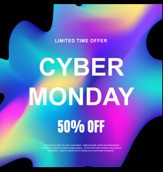 cyber monday sale promotional web banner vector image