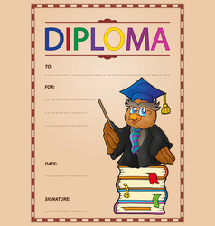 Diploma composition image 1 vector