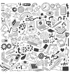 Education doodles vector