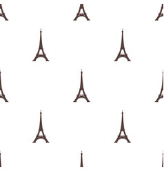 Eiffel tower icon in cartoon style isolated on vector