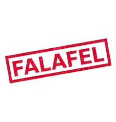 Falafel rubber stamp vector
