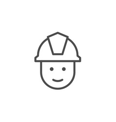 fireman face line outline icon vector image