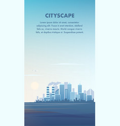 flat banner panorama modern cityscape vector image