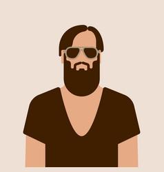 flat hipster man character vector image