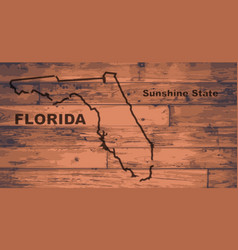 Florida map brand vector