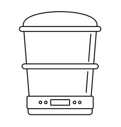 Food processor machine icon outline style vector