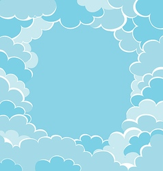 frame of clouds vector image