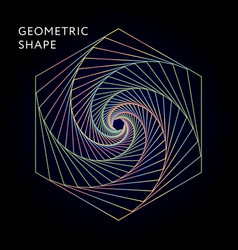 geometric shape graphic gradient vector image
