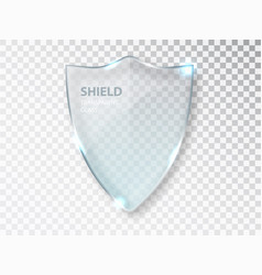 Glass shield sign on transterent background vector