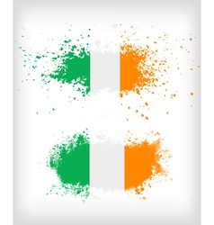 Grunge Irish ink splattered flag vector