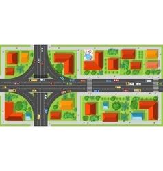 Highway junction roads vector image