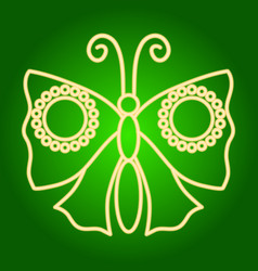 Icon moth butterfly vector