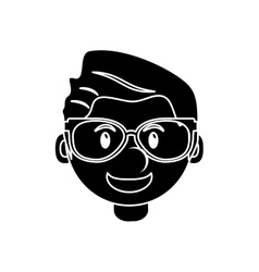 Isolated man cartoon with glasses design vector