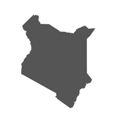kenya map black icon on white background vector image