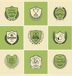 laurel wreath badges templates vector image