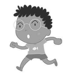 Little boy wearing eyeglasses vector
