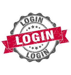 login stamp sign seal vector image