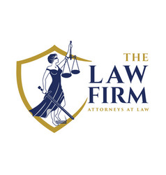 Logo design for lawyers vector