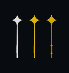 magic wands flat icons vector image