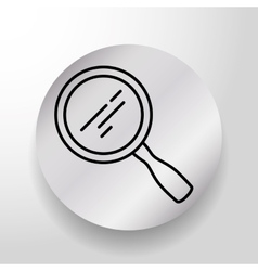 Magnifying glass searching vector image