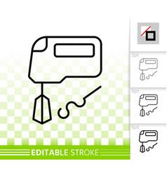 Mixer simple black line icon vector