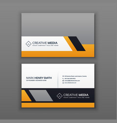 modern business card design with yellow and gray vector image