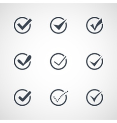modern confirm icons set vector image