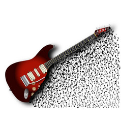 Musical guitar background vector