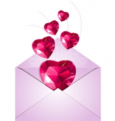 Opened envelope with love hearts vector