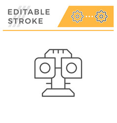 Ophthalmologic equipment line icon vector