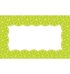 Orange lime frame vector