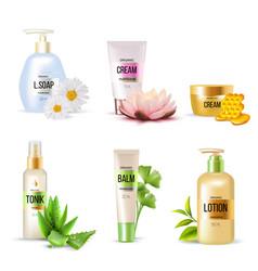 organic cosmetics set vector image