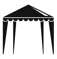 Outdoor house tent icon simple style vector
