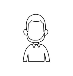 outline man male avatar style vector image