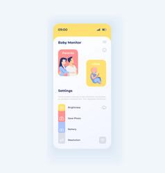 Parent surveillance smartphone interface template vector