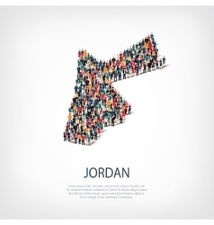 People map country Jordan vector