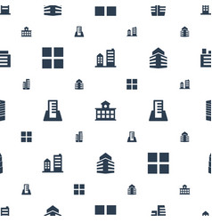 perspective icons pattern seamless white vector image