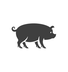 pig silhouette isolated on white background vector image