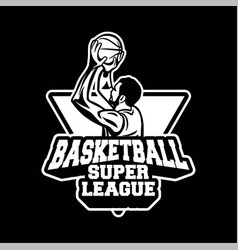 player doing shot in basketball super league vector image